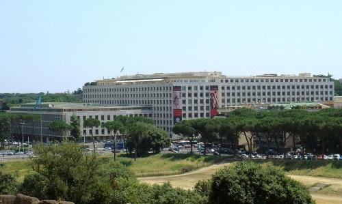 @ CC: FAO's headquarters in Rome, in Via delle Terme di Caracalla. 24 June 2008, Scopritore